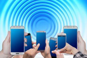 Die Funkwellen vom Handy durchdringen Wände